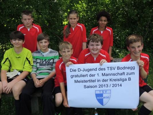 Zu guter letzt noch ein Gruß an unsere 1. Mannschaft von der gesamten D-Jugend des TSV Bodnegg